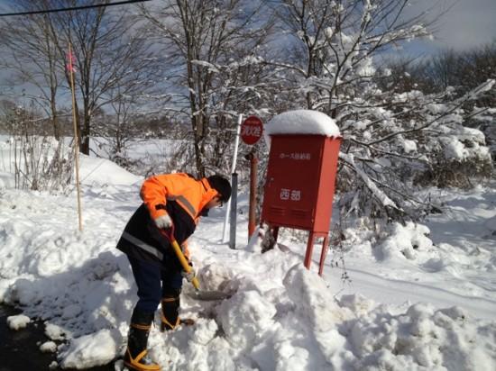 消防団消火栓雪掘り20121202-2