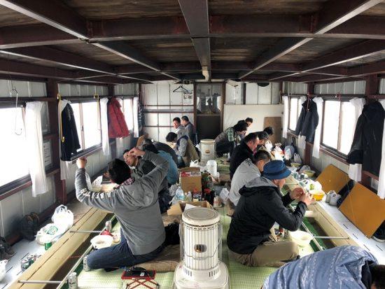 野尻湖にて北信地区商工会青年部親睦会(わかさぎ釣り大会)開催20180308