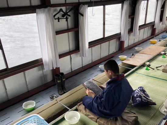 息子とわかさぎ釣りへ20180322-1