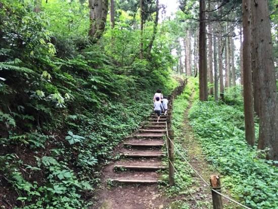 春日山城へ20150531-2