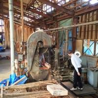 紫檀・欅薄板、欅ブロック材を製材20150604