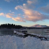 野尻湖にワカサギ釣りへ20130220
