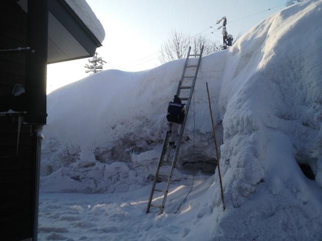 我が家の畑の雪山より20130226