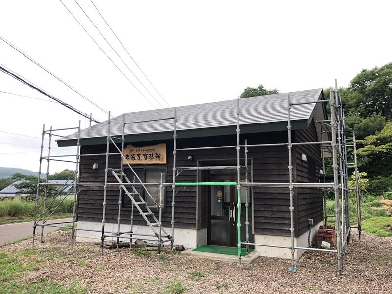 本社事務所壁塗装20180827-1