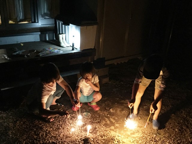 我が家の小さな花火大会20150726