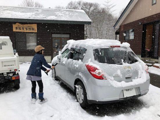 子供達も除雪のお手伝い20181219