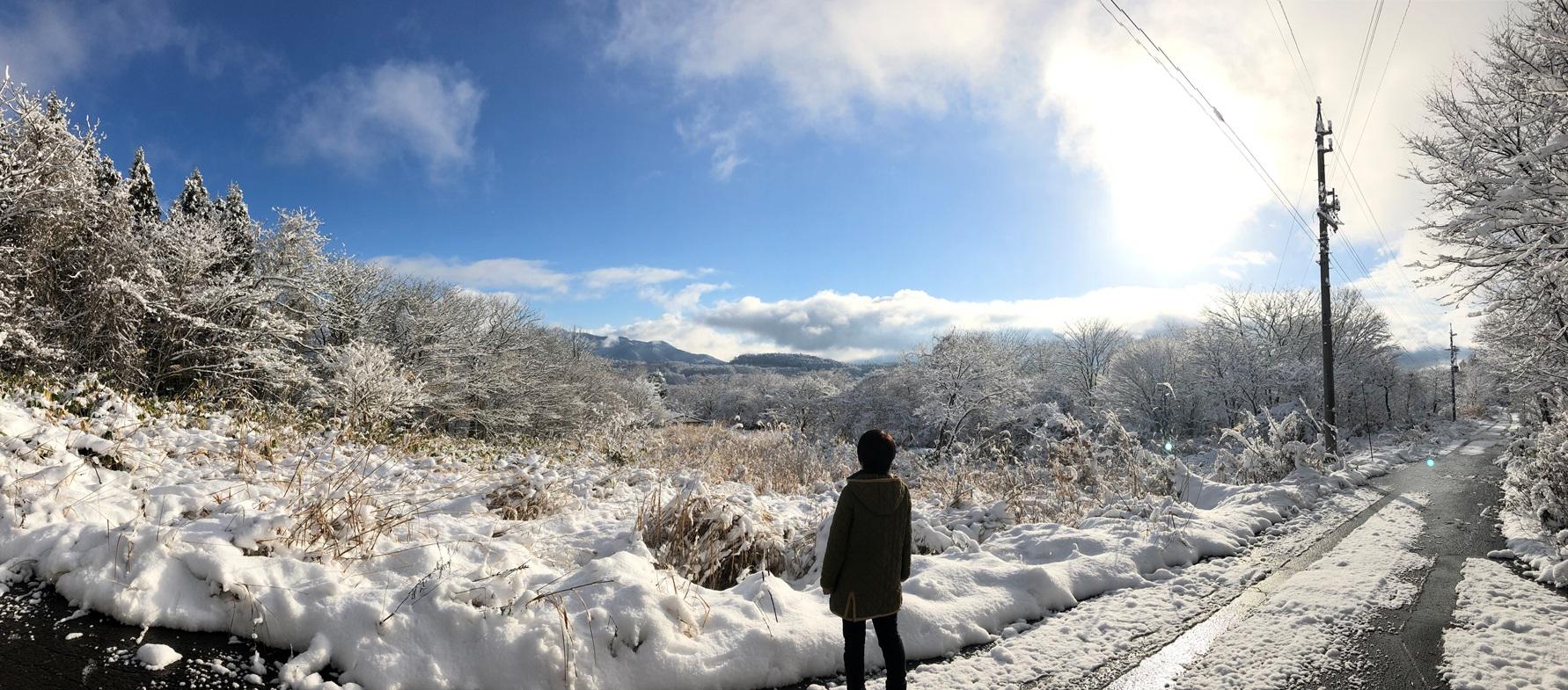 雪の季節になりました20181219