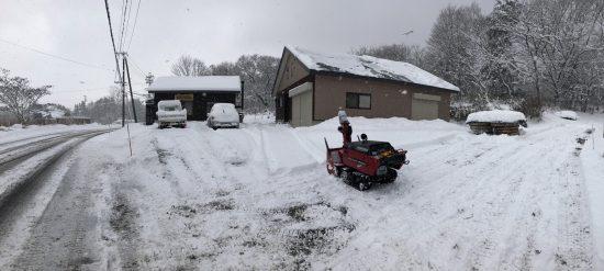 本格的な除雪始め20181214