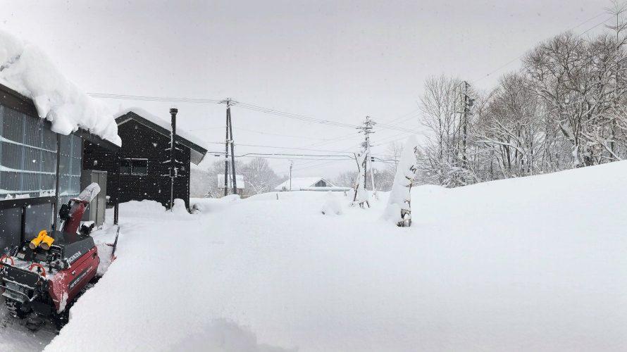 大雪警報から一夜明けて20181228