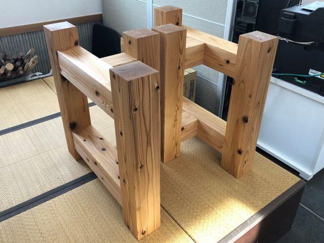 ブラックウォルナット一枚板原木素材・杉兼用脚を出荷20190130-3