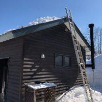 屋根の雪落とし20190218