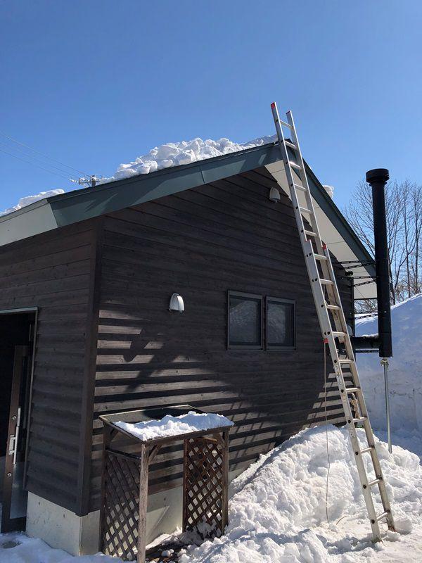 屋根の雪落とし20190218-1