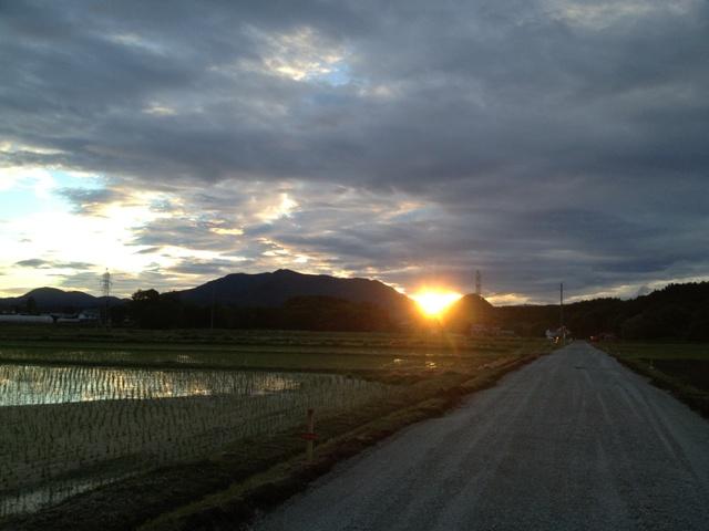 黒姫高原の日の出20130613