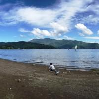 息子と野尻湖へ20150912