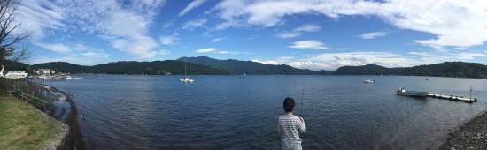 息子と野尻湖へ20150912-1