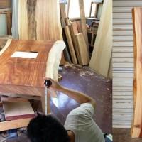 岩手県小野寺様の総欅造り欅一枚板座卓、オーダー製作に入りました20130903