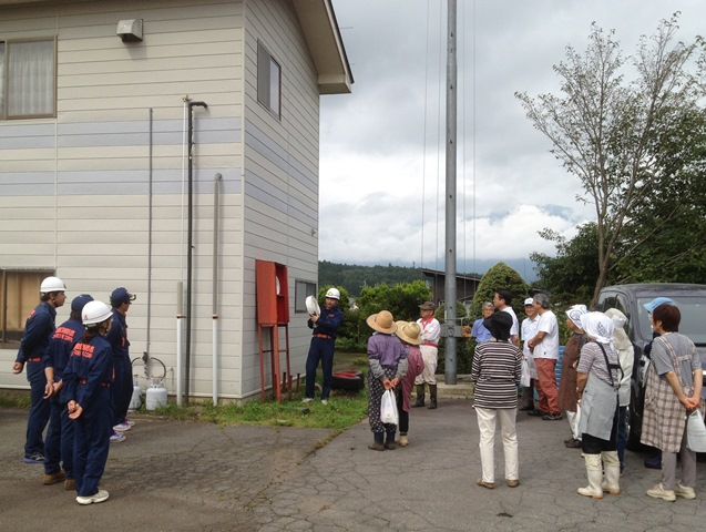 信濃町地震総合防災訓練20130907