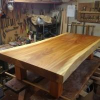 岩手県小野寺様の総欅造り欅一枚板座卓、完成しました20130910