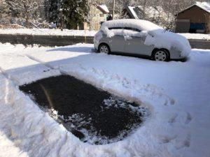 今朝の積雪は約15cm。20191130-2