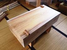 納品事例:欅鉋削り台(刀剣鞘師作業台)