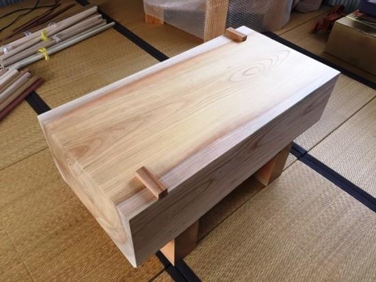 欅鉋削り台(刀剣鞘師作業台)