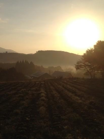 信州・黒姫今日の風景20131028早朝1