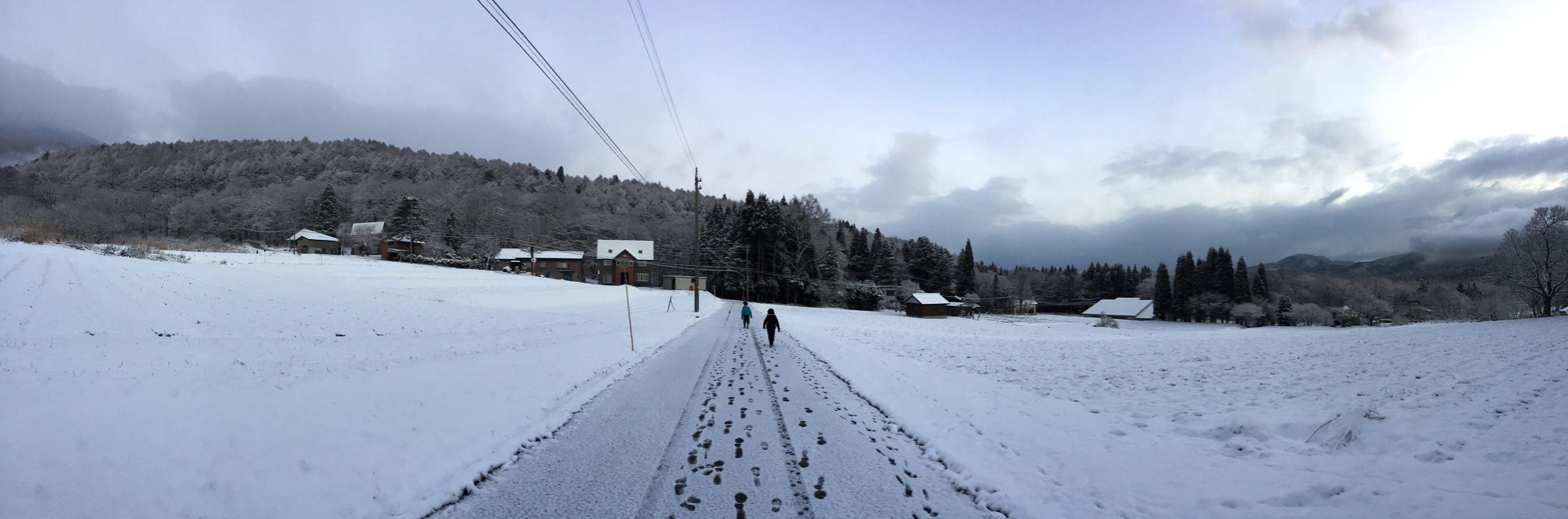 今日の風景20151218~薄っすらと雪が積もりました~