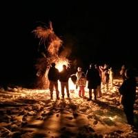 集落のどんど焼き開催20160110