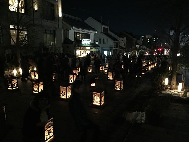 長野灯明まつりへ20160211