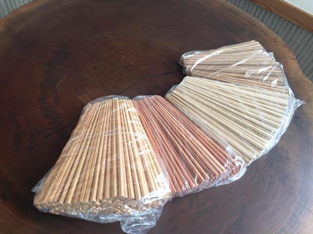 限定販売品天然木箸「紫檀」を追加製作しました20160227