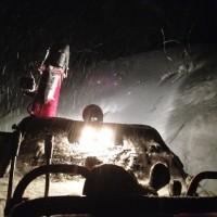 2日連続で夜の除雪作業
