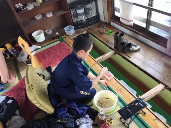 「子供わかさぎ釣り教室」に参加20160318-2