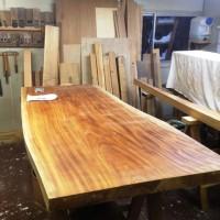長野市・倉島様の欅一枚板ダイニングテーブル製作に入りました20140117