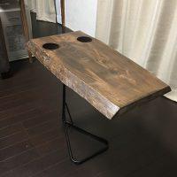お客様のDIY作品「栃一枚板のソファ用テーブル」~兵庫県・石見様~20171021