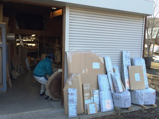 今日の出荷梱包数は17個・279kg20160322