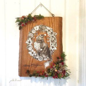 お客様のDIY作品「桐一枚板のクリスマスイラストオーナメント」~新潟県・星様~3