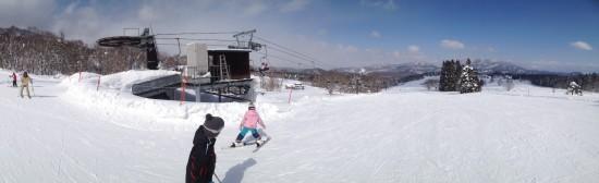 黒姫高原スノーパークでスキー20140223-1