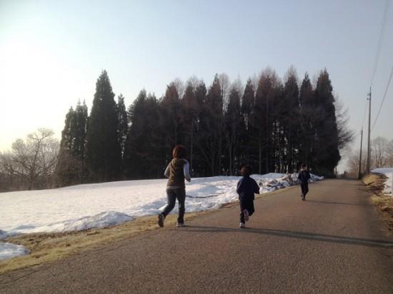 今朝のジョギング風景20140409