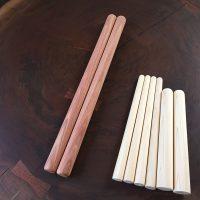 紫檀・ヒノキのバチを製作しました20160701