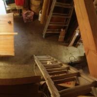 島根県黒田様の欅一枚板テーブルの製作に入りました20140507