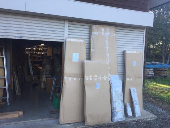今日の出荷。大型材の梱包にバタバタしました20161014