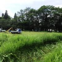 集落広場の草刈り・バーベキュー20140720