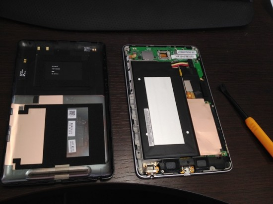 Nexus7の分解、開始