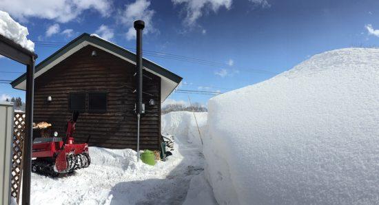 今日の信州・黒姫20170219~積雪10cmの朝~2