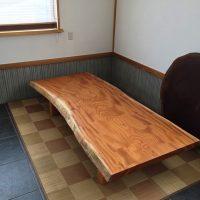 総欅造り一枚板座卓が完成しました20170412
