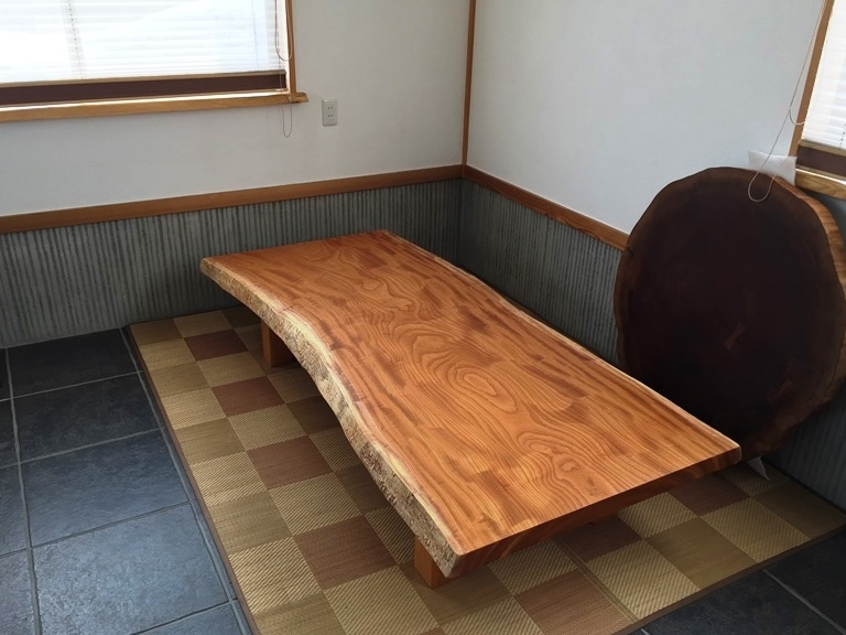 総欅造り一枚板座卓が完成しました20170412-1