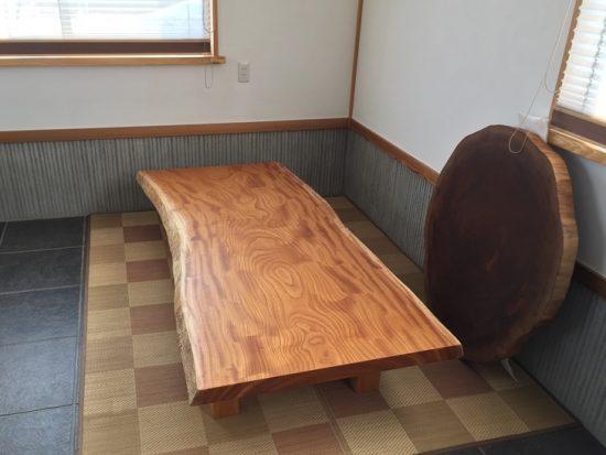 総欅造り一枚板座卓が完成しました20170412-5