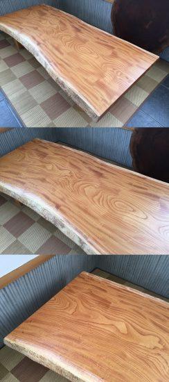 総欅造り一枚板座卓が完成しました20170412-2
