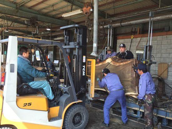 ブラックウォルナット巨木丸太を製材しました20170330-5