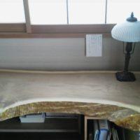 お客様のDIY作品「黄蘗(キハダ)一枚板のデスク天板」~千葉県・八木下様~